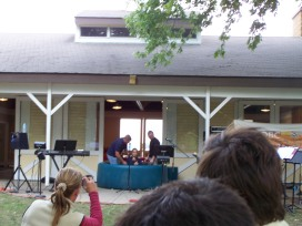 baptism at the OBC Fall picnic