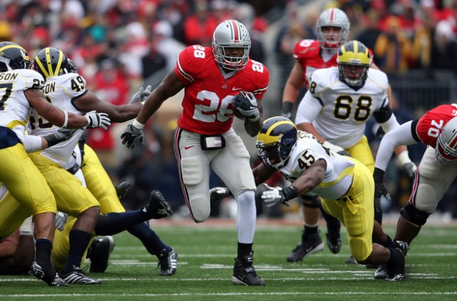 Beenie Wells runs against Michigan